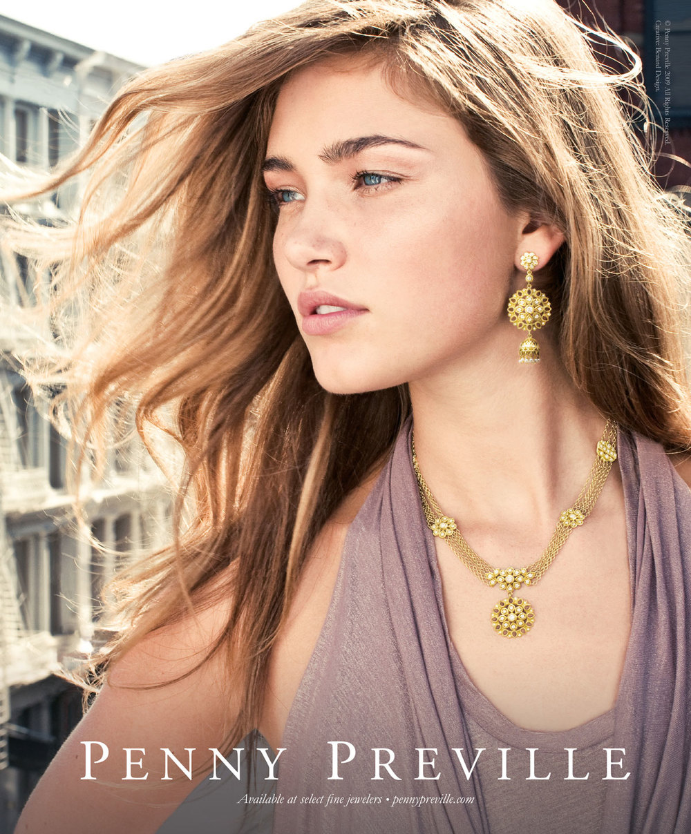 Penny Preville Fine Jewelry Fashion Print   Advertising and Creative Direction by Benard Creative.