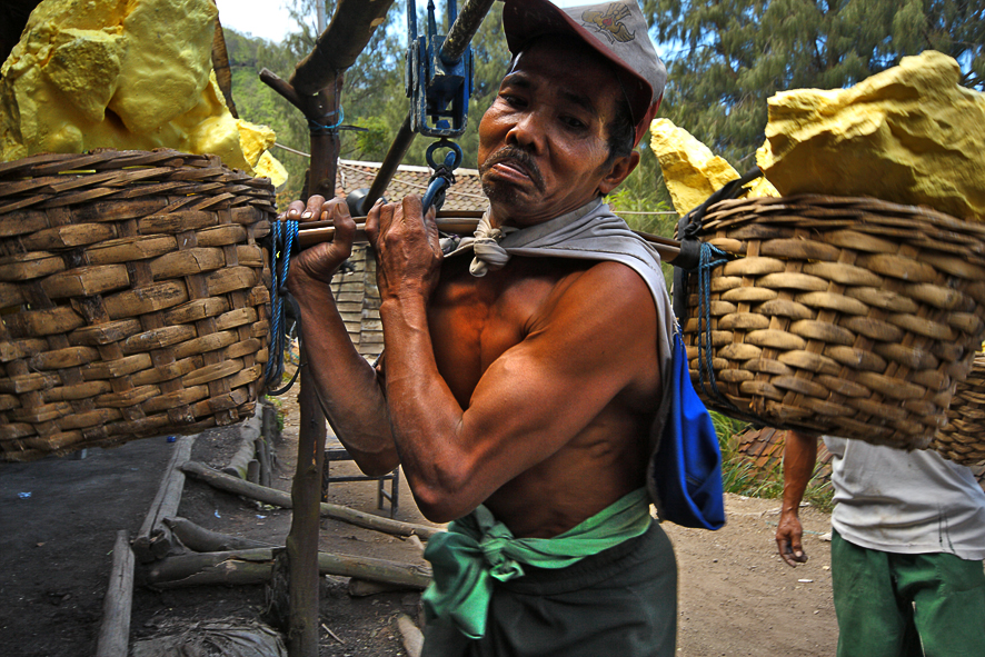 At the end of their hard day's work, the miners get paid approximately 10 USD