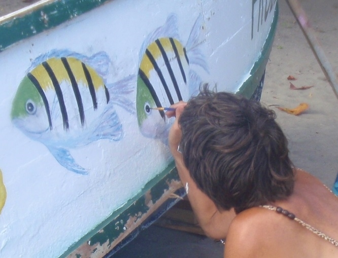 painting the boat.JPG