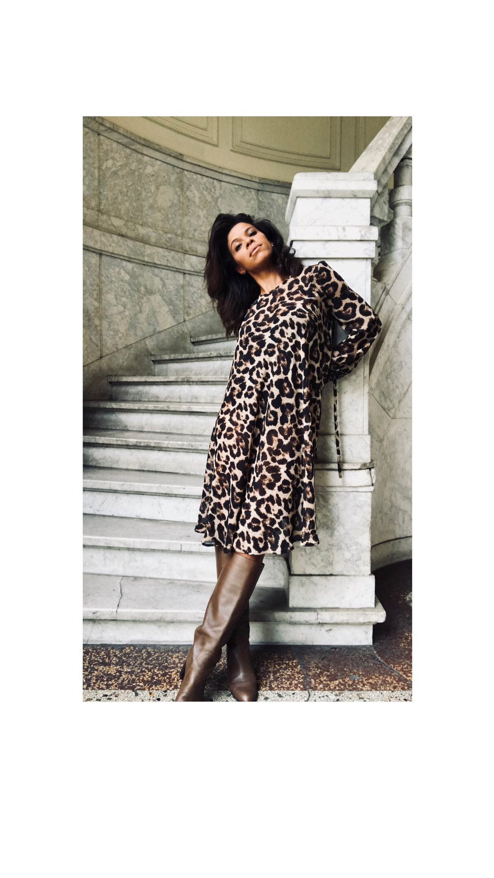 Leopard A-lijn Jurk - Shop the Look