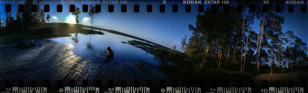 sunset at swift creek pond