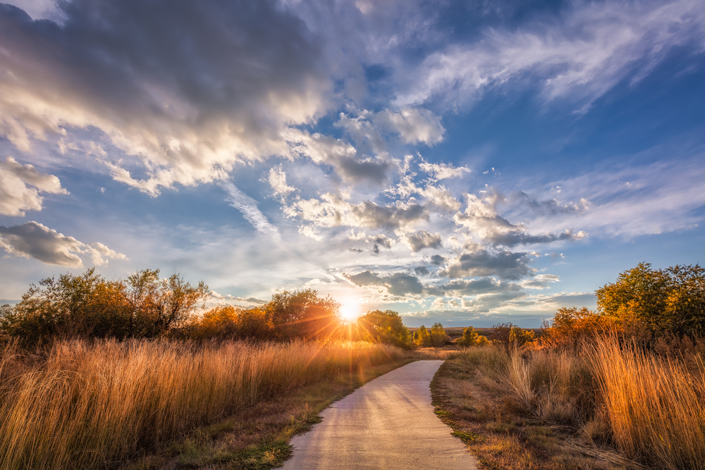 Cherry Creek trail is a trail that I frequently walk to get a bit of fresh air and to take photos.  I always find something interesting to photograph here and in this particular case, the setting sun along with the warm tones really lends itself to another peaceful evening on the trail.  (7) bracket HDR f/8@16mm ISO 100