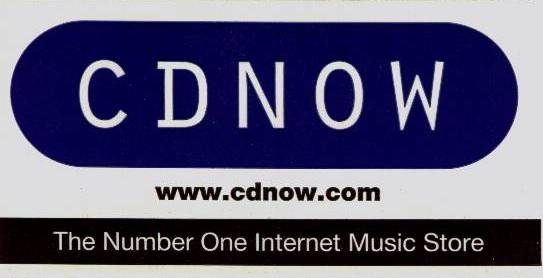 CDNOW LOGO. The Number one internet music store.