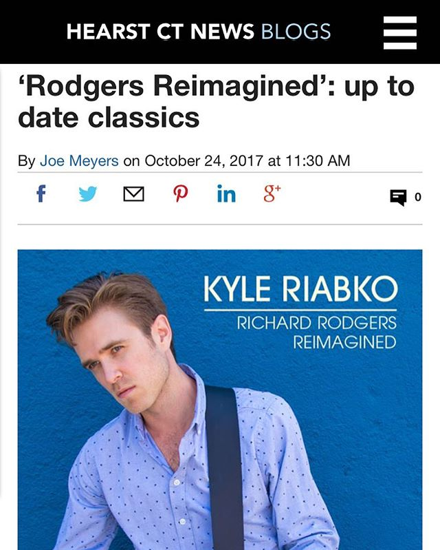 Very nice review of the new album OUT FRIDAY.  Thanks to Joe Meyers at The Connecticut Post for the kind words: http://bit.ly/2zMNKdl #richardrodgersreimagined #richardrodgers #newmusic #album #ghostlightrecords
