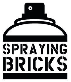 Spraying Bricks