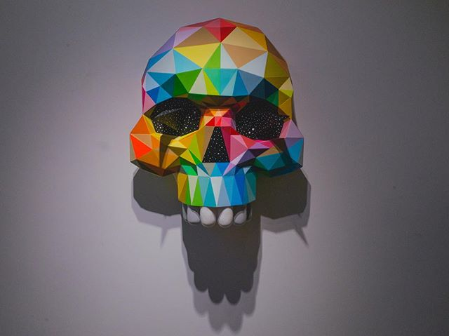Who got down to the @okudart show tonight @stolenspacegallery then!?