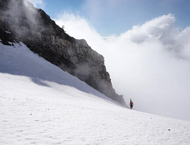 Dr. Carling coming up Provo Peak a couple weekends ago. #geologistswhoski