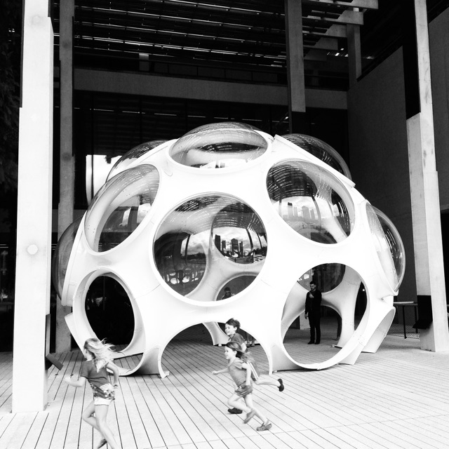 Fly's Eye Dome by Buckminster Fuller   . A prototype of an original design for a fully functional, air-deployable, off-the-grid temporary dwelling.