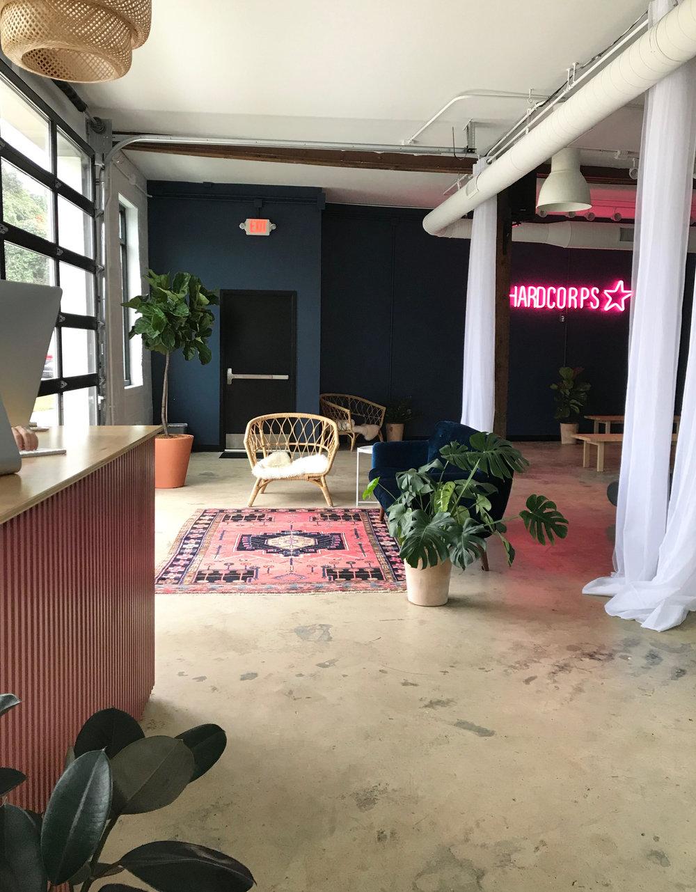 Flowcorps Pilates Studio + custom-designed front desk