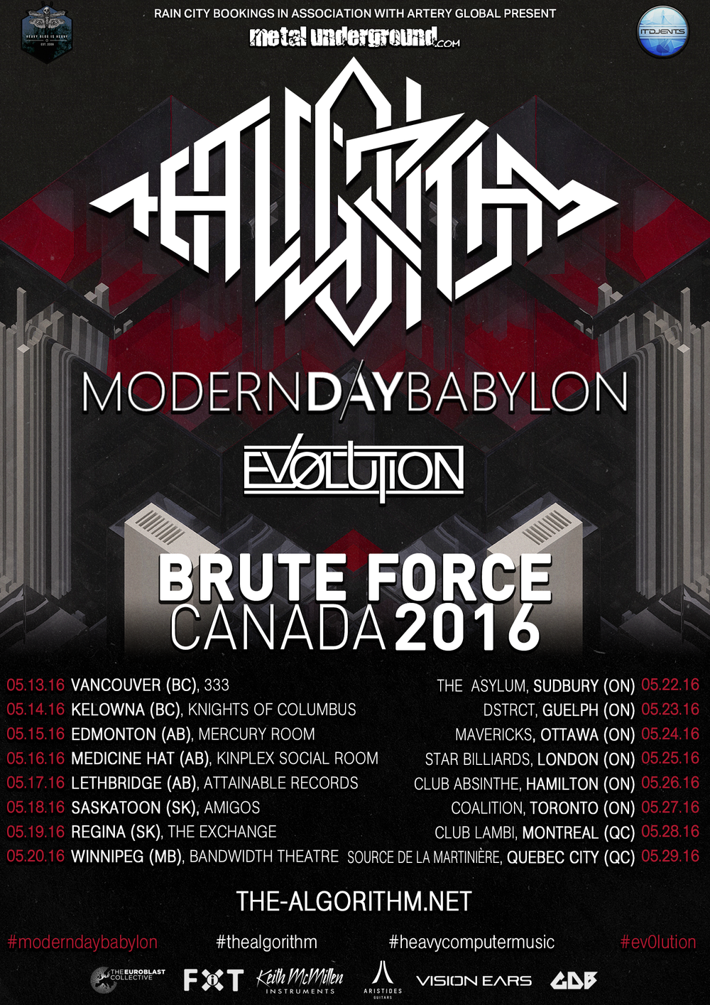 The Algorithm Brute Force Canada Tour 2016