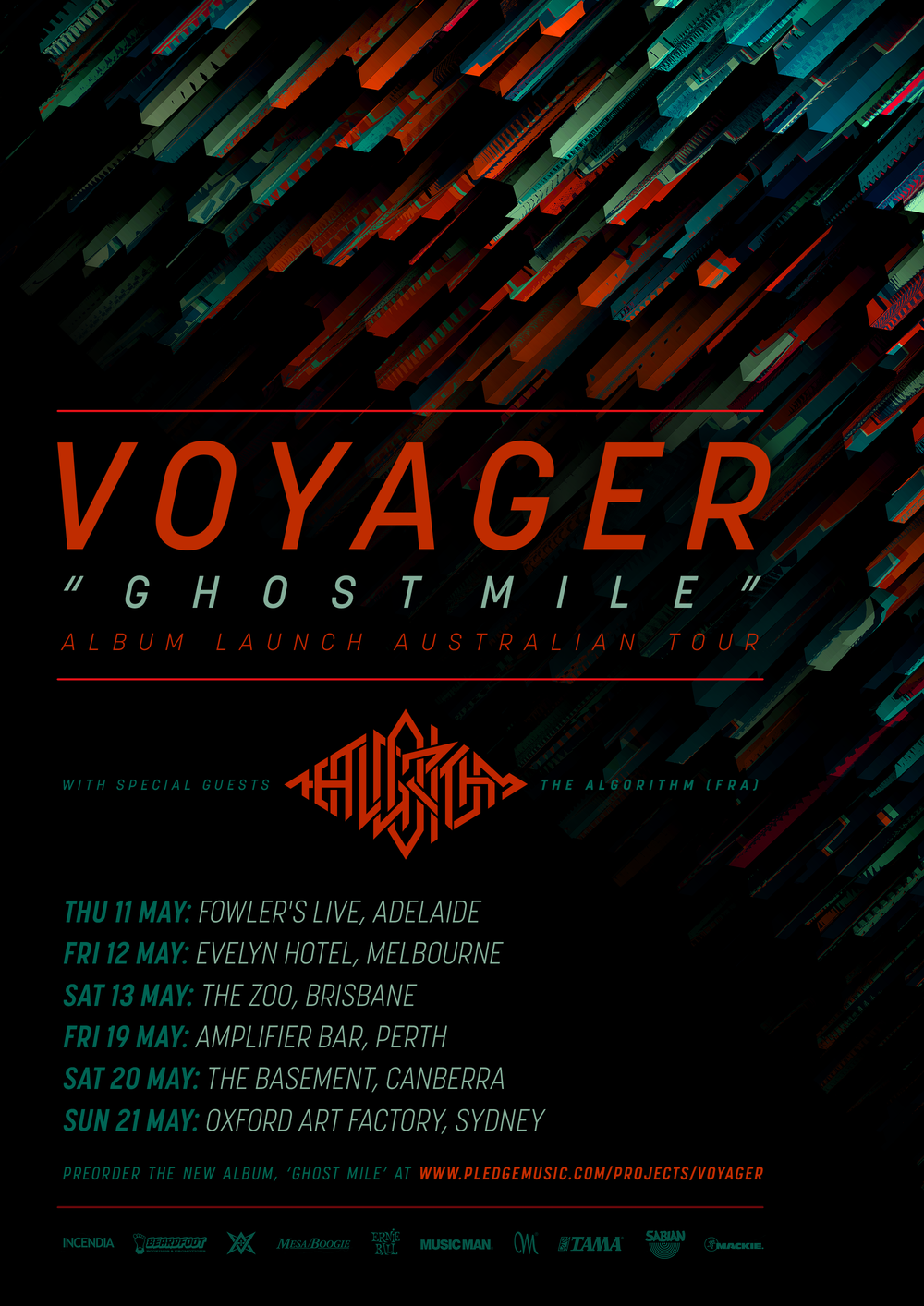 Australia Tour 2017 Voyager The Algorithm