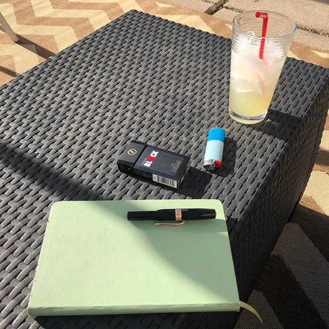I have cleaned up the front and back yards. Now, I drink margaritas and journal. #nofilter #spring? #journal #selfcare