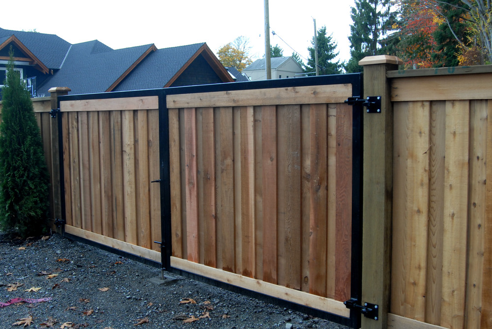 Custom Steel Framed Gates