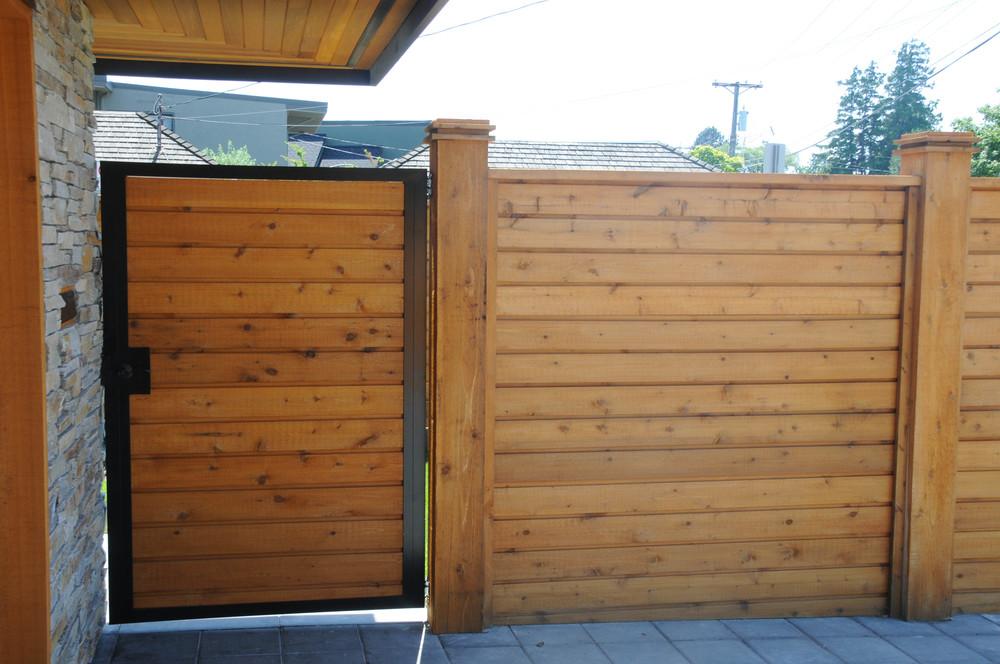 Custom Steel Framed Cedar Gates