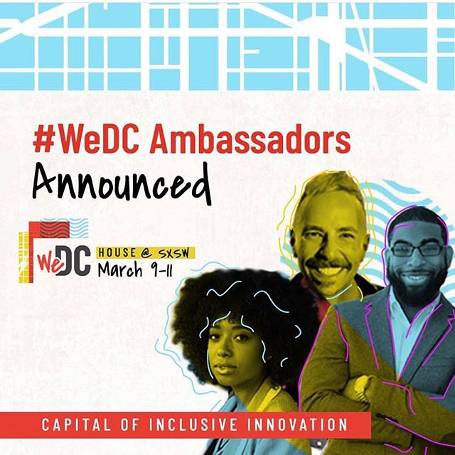 Lady boss @kianweatherspoon is heading to @sxsw as #WeDC Ambassador !  @wdcep ! Hype that our company is a part of a dynamic group of #DC leaders and creatives!