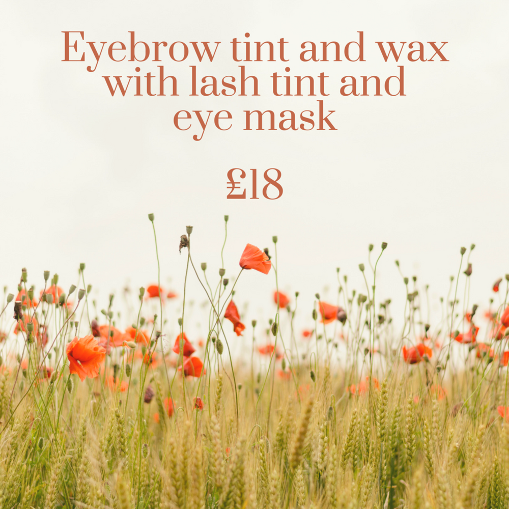 Eyebrow tint and wax with lash tint and