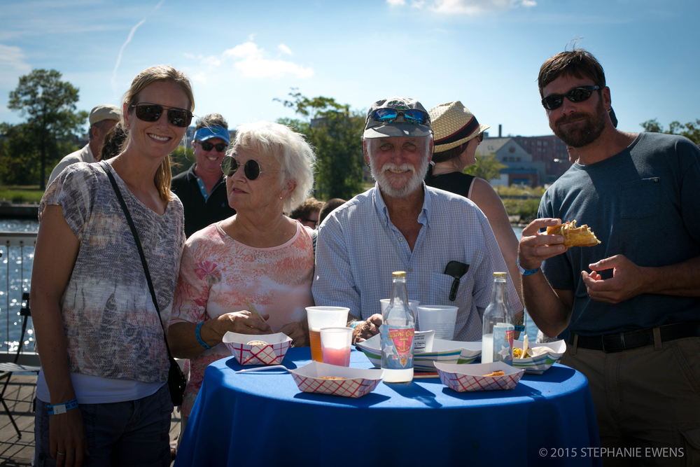 Happy attendees at the first annual Ocean State Oyster Festival 2015
