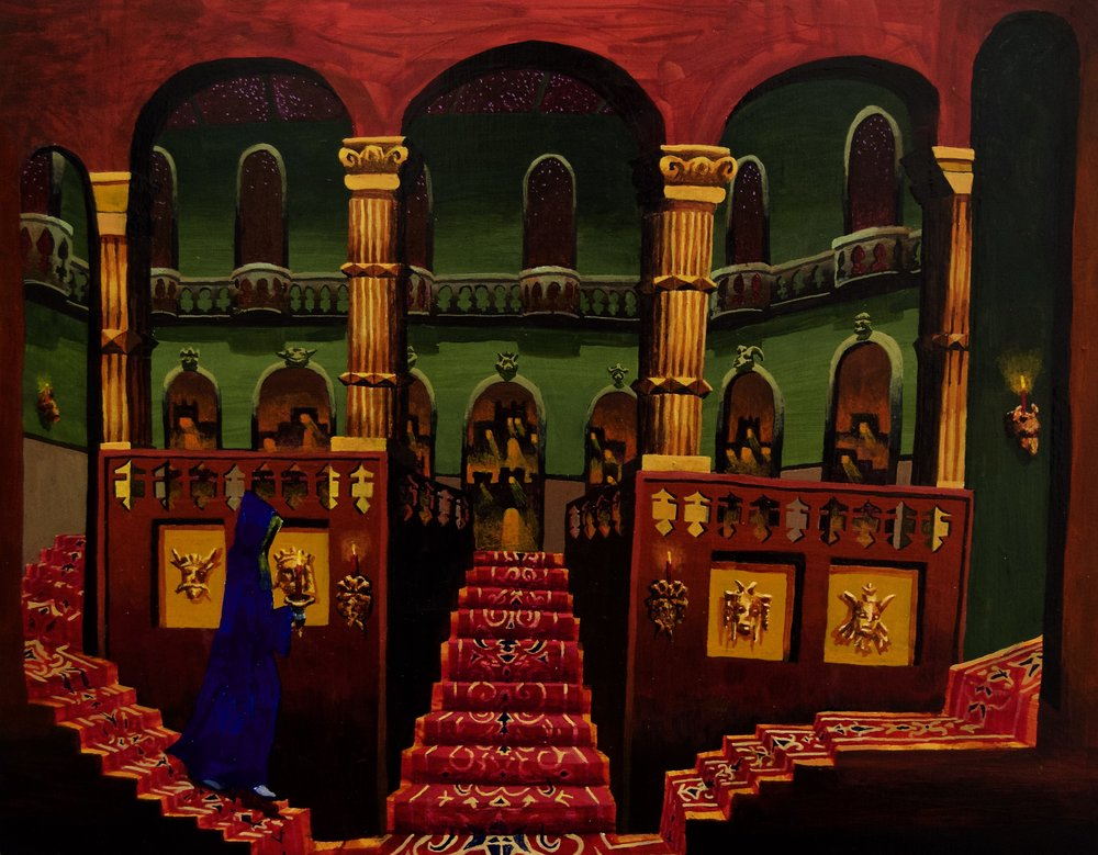 """Grand Hall at Night"""