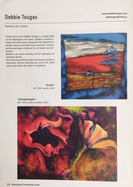 2013 - Publication featured in International Contemporary Artists.