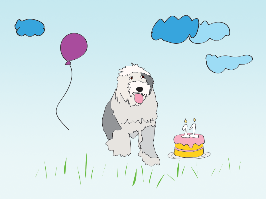 For birthday dog, Delilah