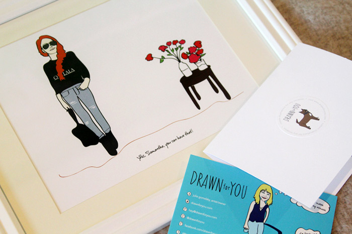 Custom illustrated print for blogger,  Can I Have That
