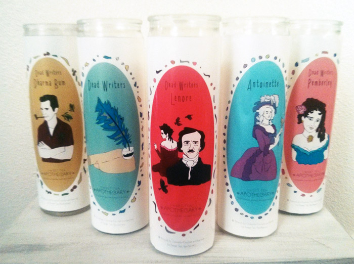 Custom illustrated labels for limited edition candle line from Sweet Tea Apothecary
