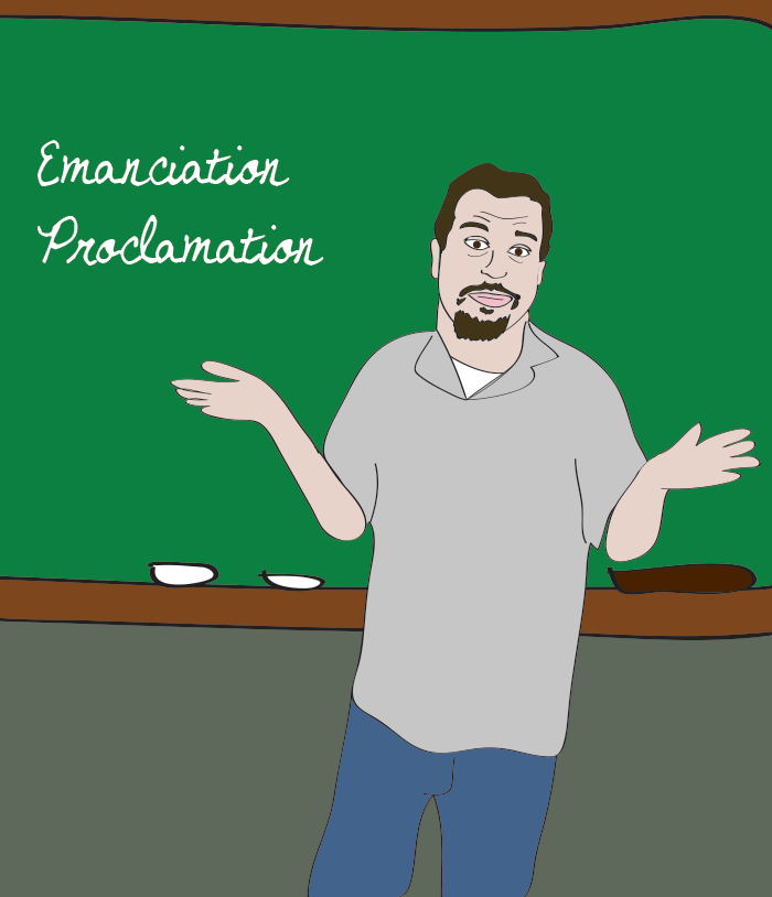 "Sal gives us a history lesson with the "" Emanciation "" Proclamation"