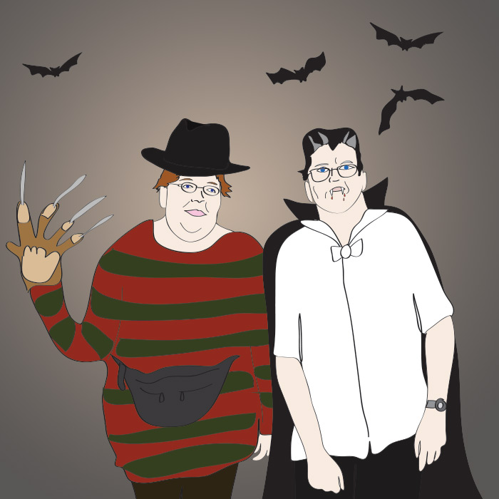 Boo! It's Retarded Freddy Krueger and Slow Dracula