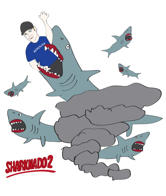 Benjy Bronk in Sharknado 2