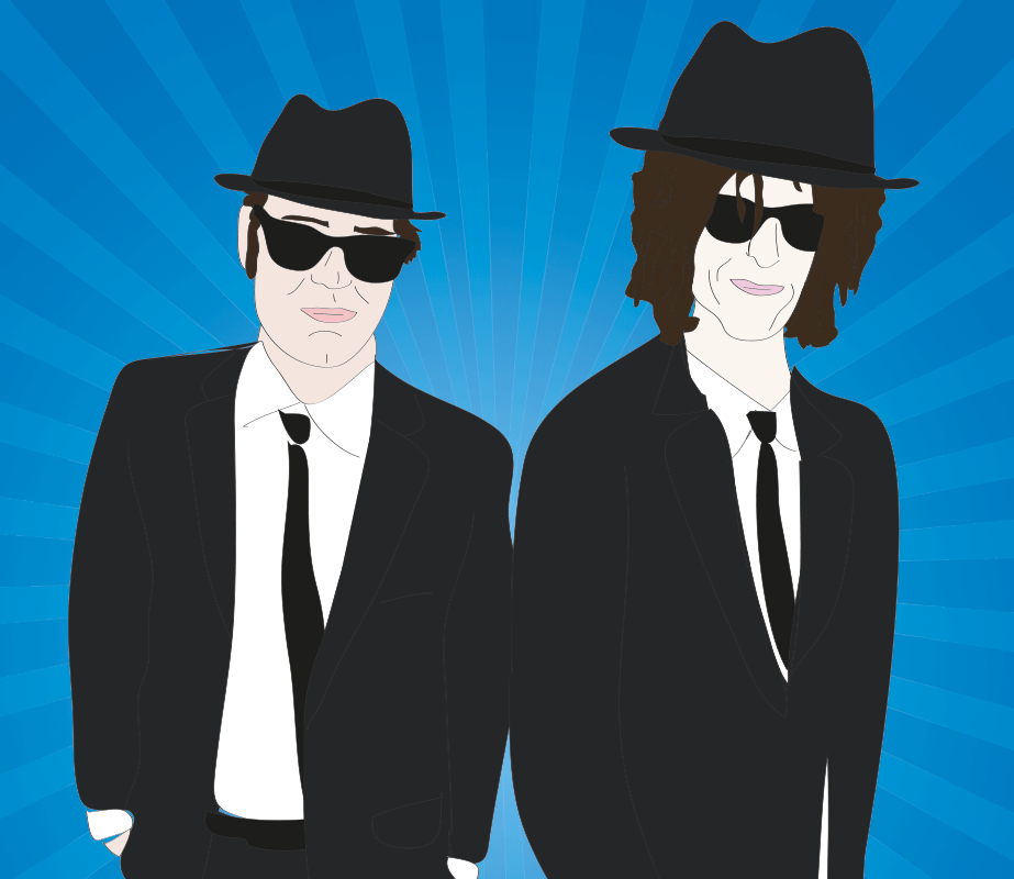 Dan Aykroyd and Howard Stern as the Blues Brothers