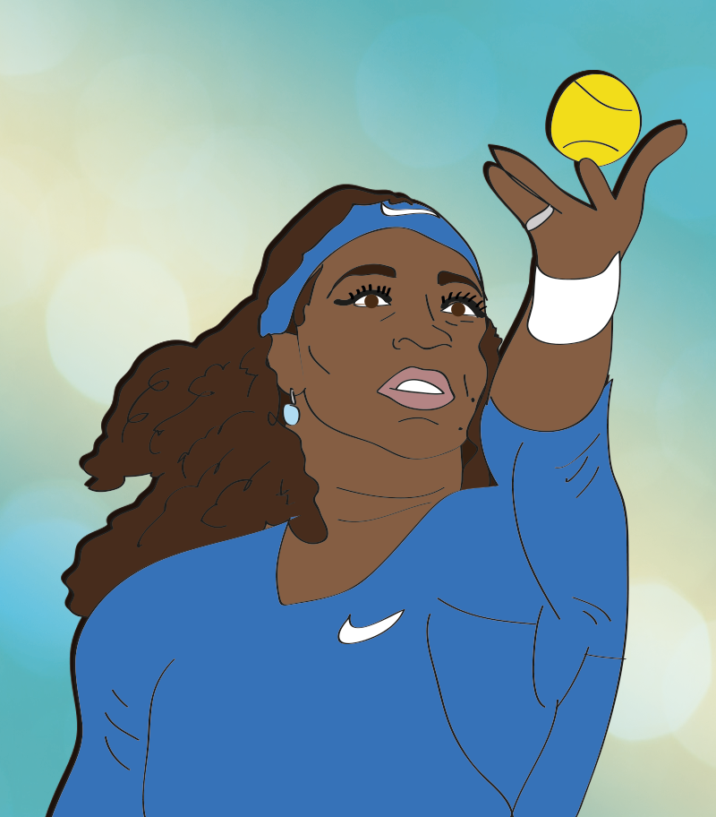 The greatest tennis player of all time, Serena Williams