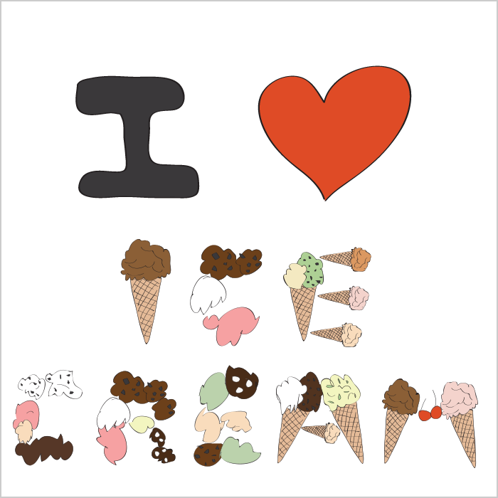 I LOVE ICE CREAM