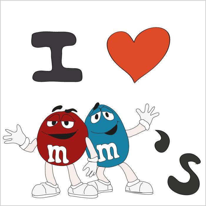 I LOVE M&Ms