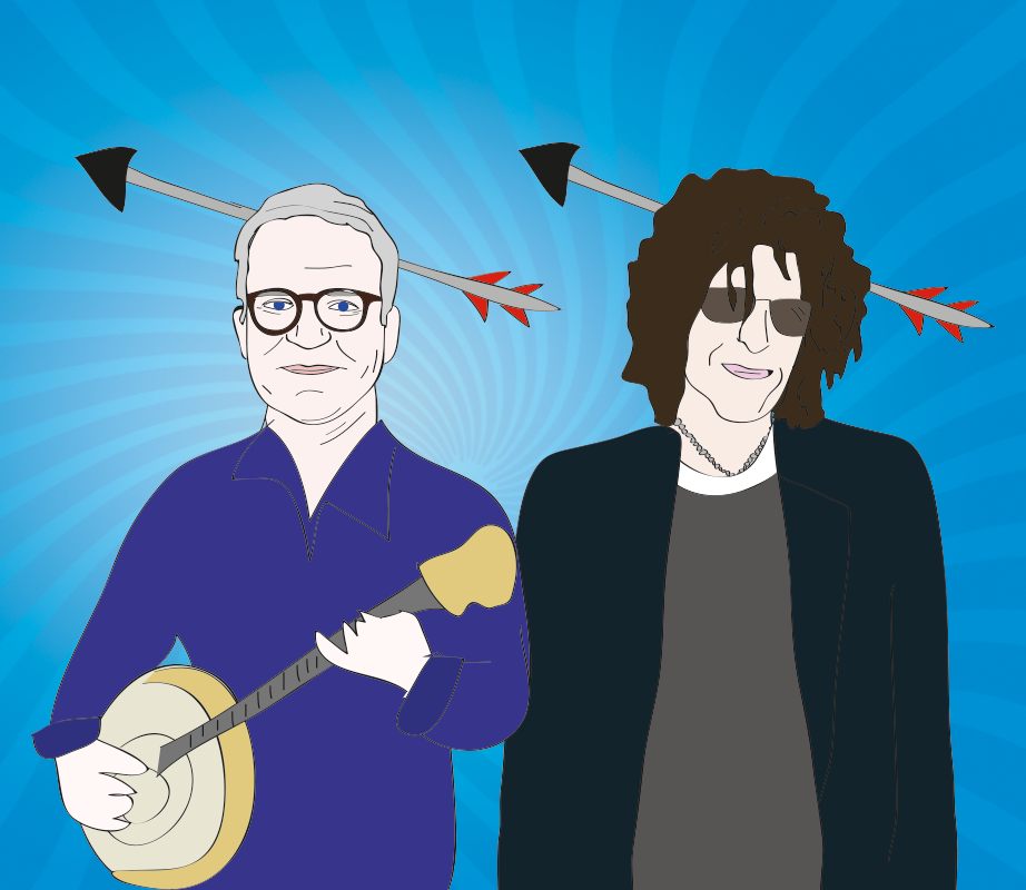 Steve Martin and Howard Stern