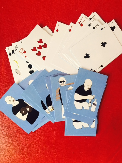 Custom illustrated set of playing cards