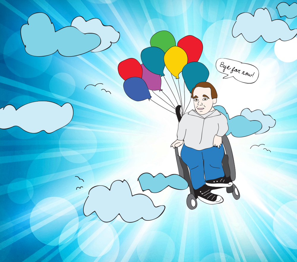 Eric the Actor Flies With Balloons in Heaven for Two Years