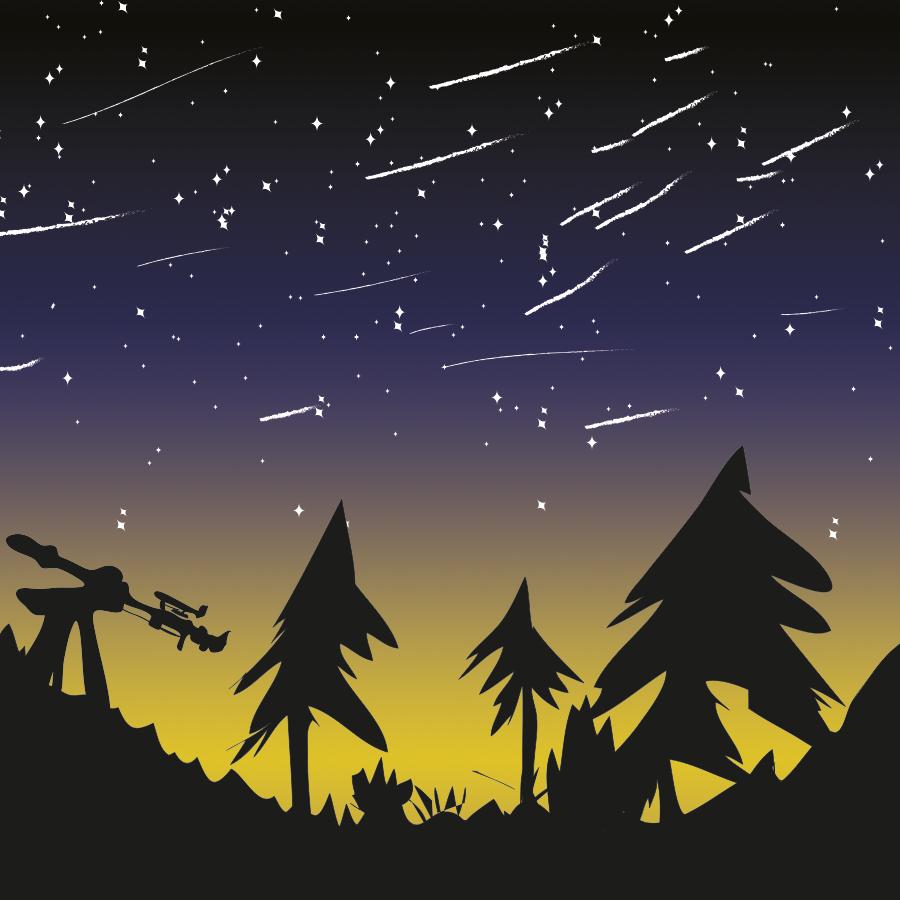 Orion Meteor Shower illustration