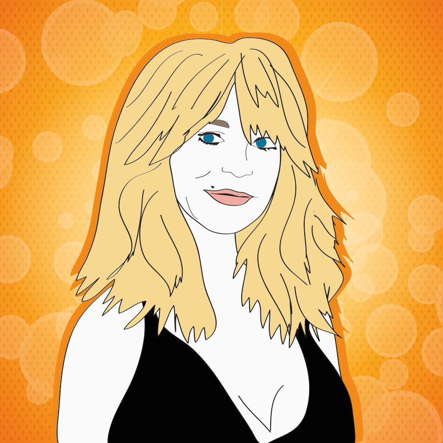 Goldie Hawn illustration, Drawn for You