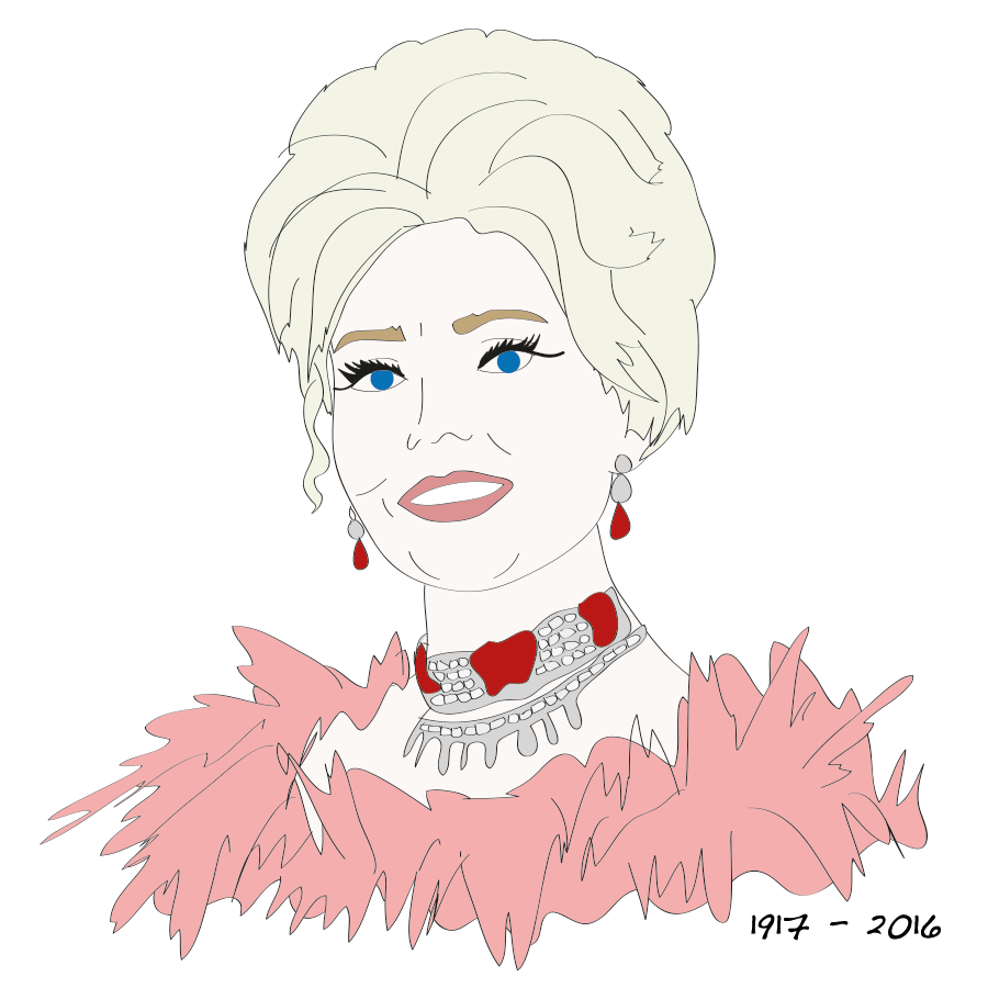 Zsa Zsa Gabor illustration