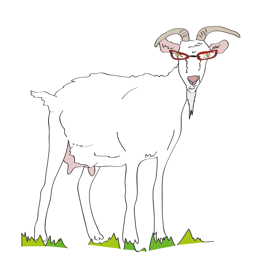 Russian phrase, old goat with glasses