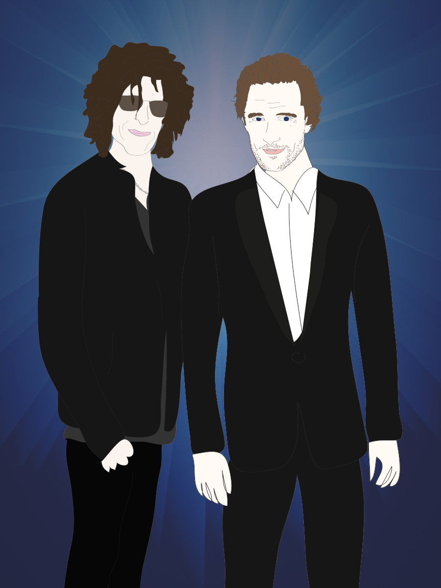 Matthew McConaughey and Howard Stern