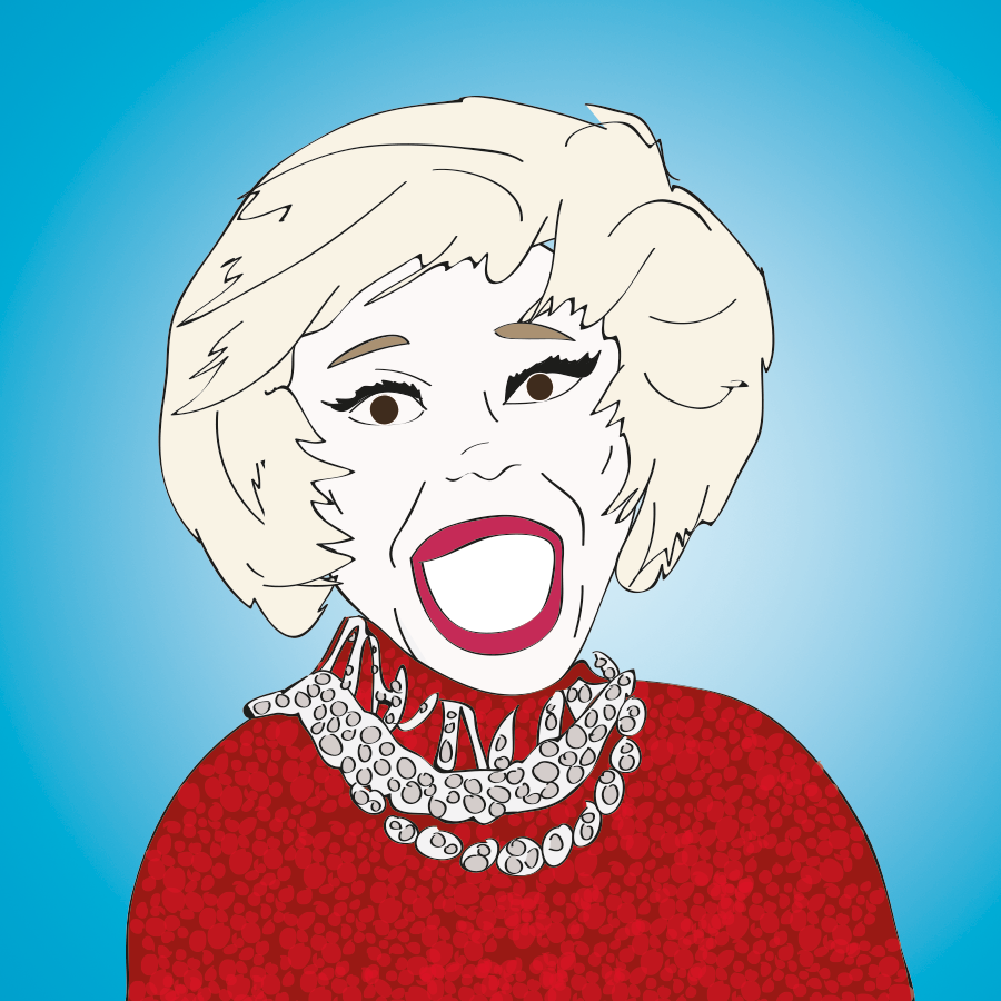 Carol Channing illustration