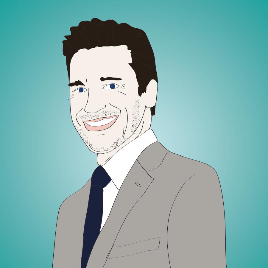 Jon Hamm illustration