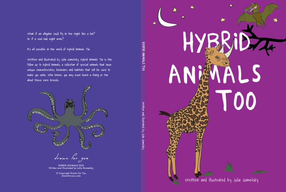 Hybrid Animals Too, custom illustrated book of animals
