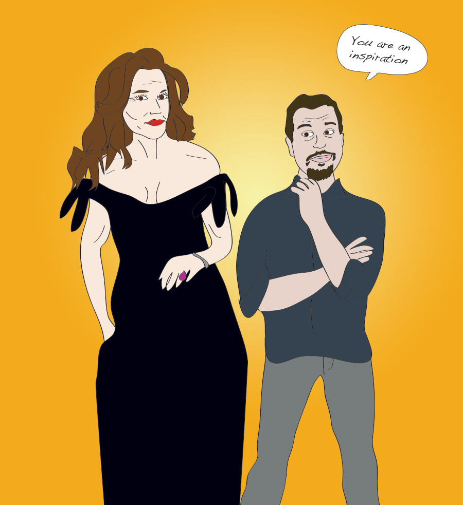 Sal Governale and Caitlyn Jenner illustration