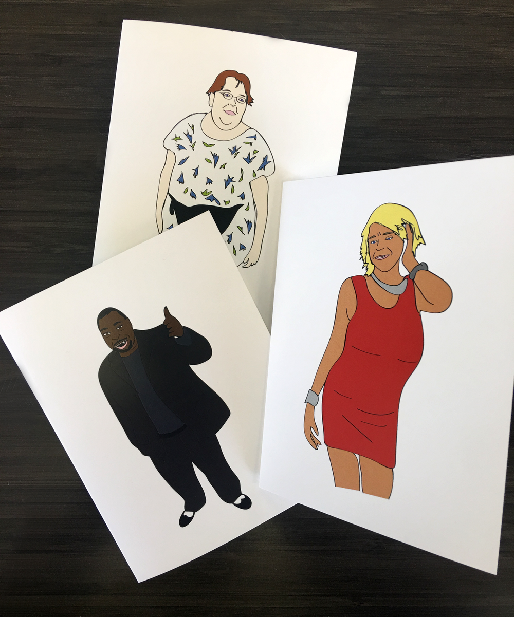 Wack pack illustrated greeting cards