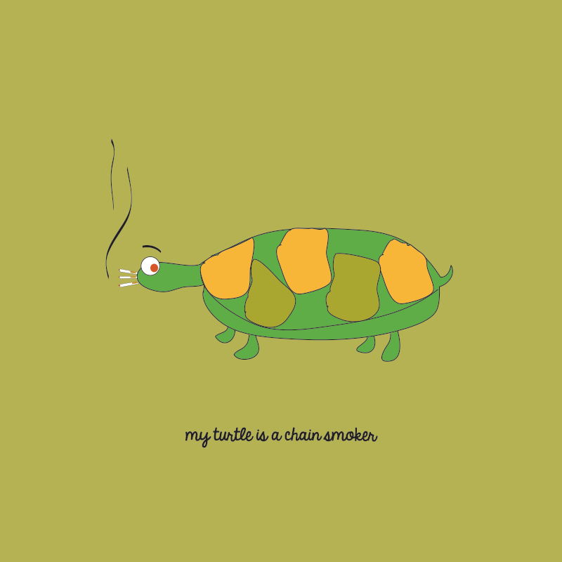 My Pet Croc, My turtle is a chain smoker