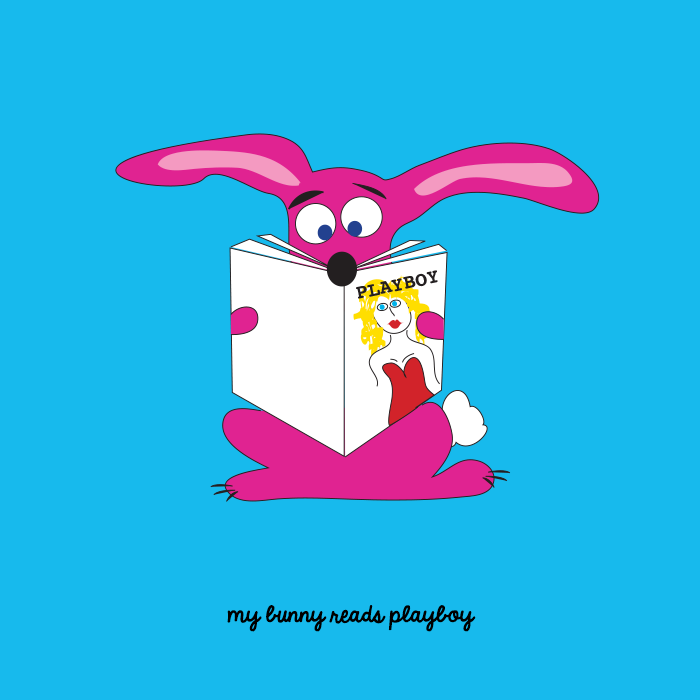 My bunny reads playboy