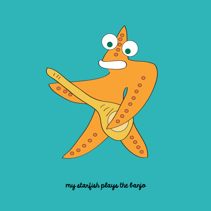 My starfish plays the banjo
