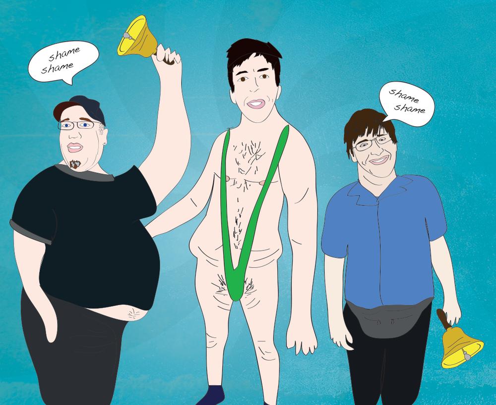 Steve from Florida, Walk of Shame illustration